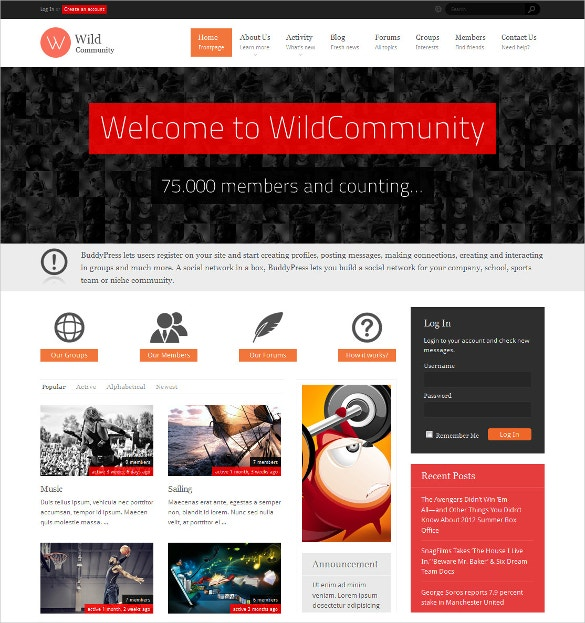 fashion wildcommunity buddypress theme 59