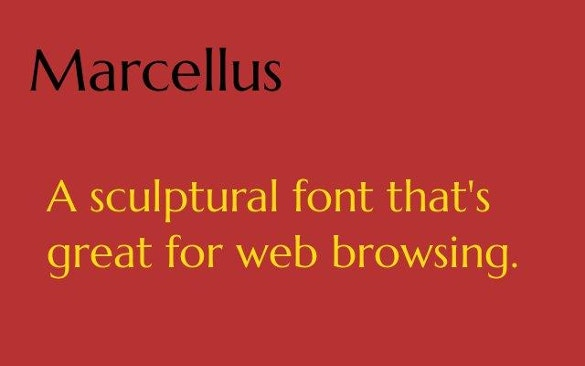 marcellus free font download