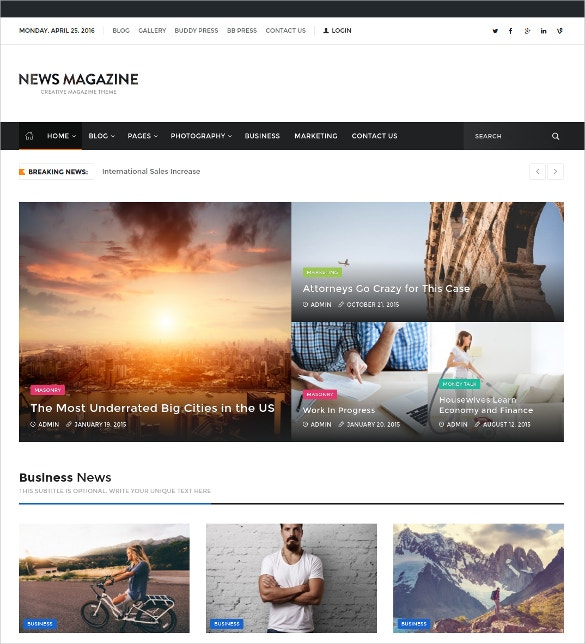 magazine buddypress theme 53