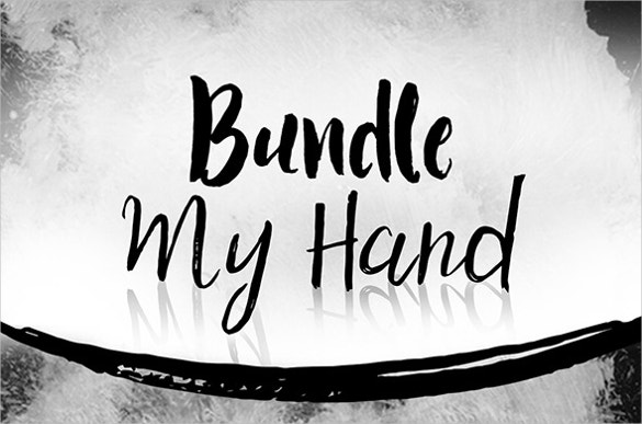 typography font bundle hand ttf download