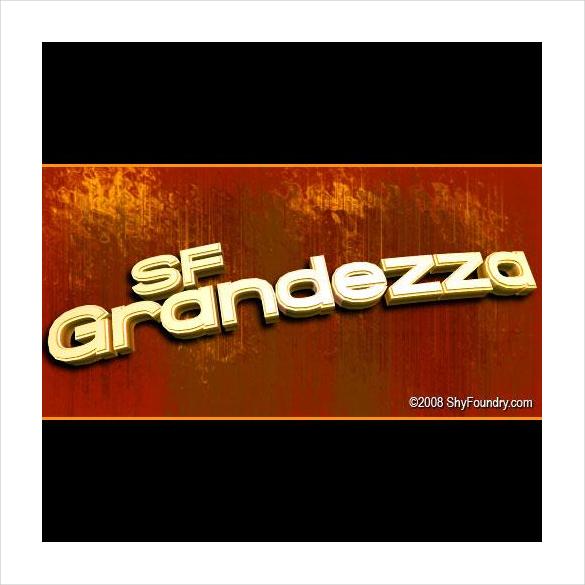 sf grandezza font free download