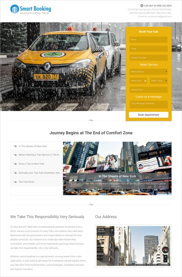 cool services website template
