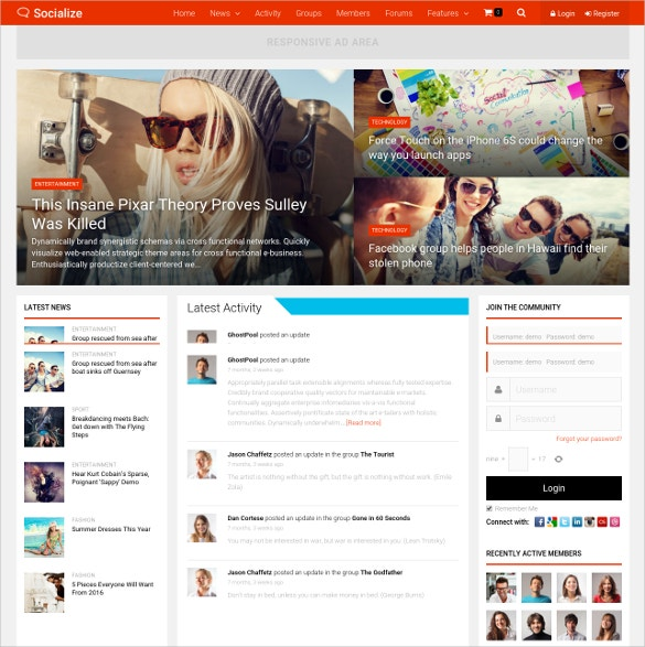 multipurpose buddypress theme 59