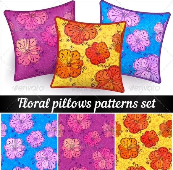3 floral pillowcase patterns set download