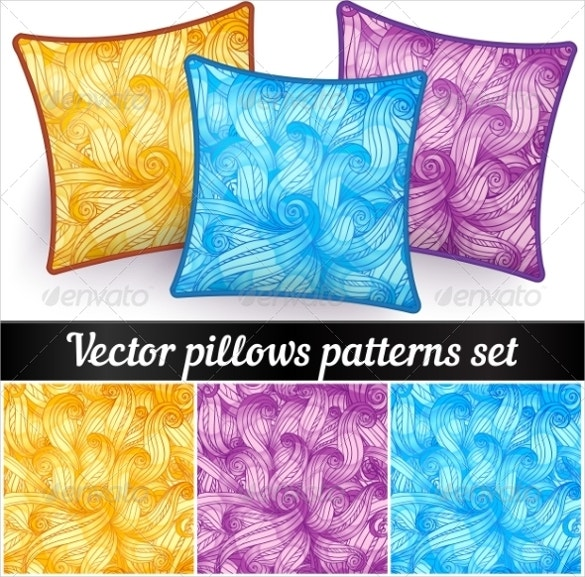 abstract curls 3 pillowcase patterns set download