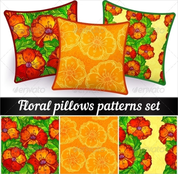 3 pillowcase seamless patterns set download