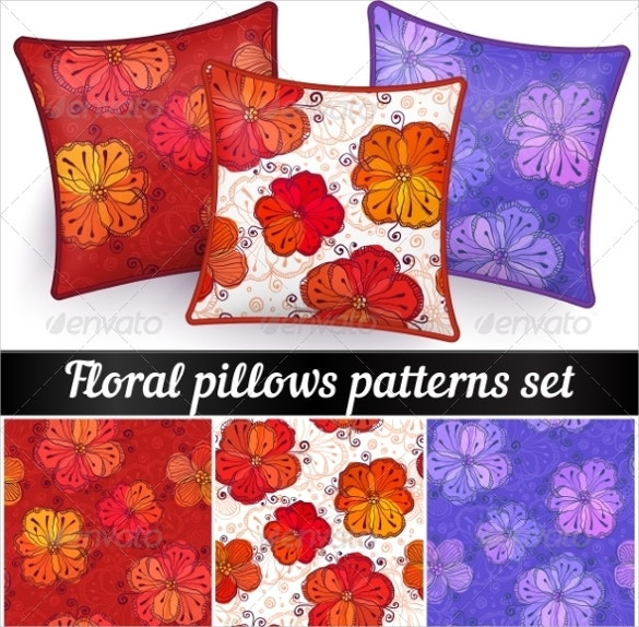 vector pillowcase patterns set download