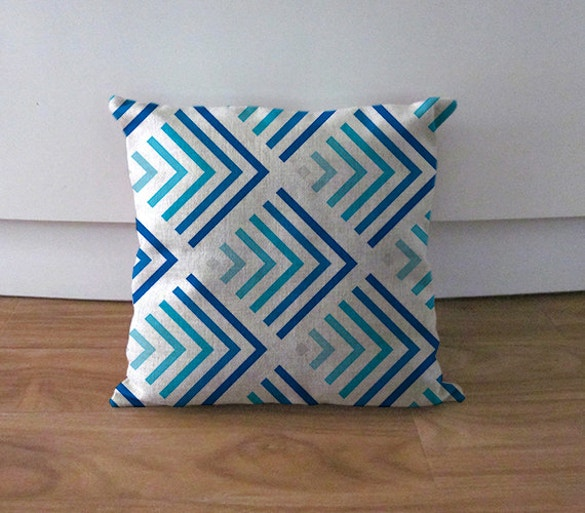 blue gradient pillowcase pattern download