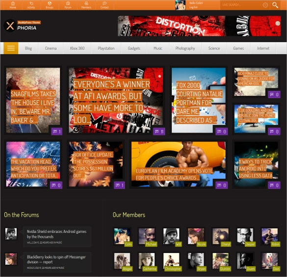 entertainment buddypress theme 59