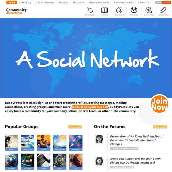 social network buddypress theme 64