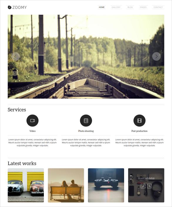 retro photo website template