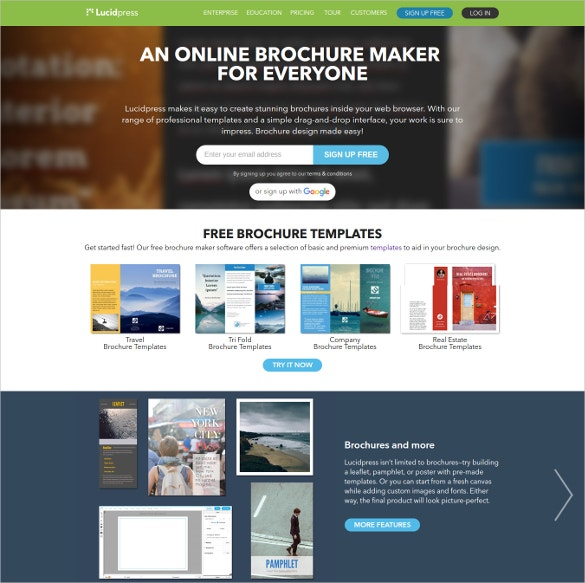23 free brochure maker tools to create your own brochure for Free online brochure maker template