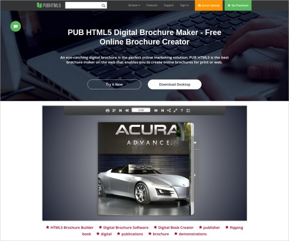 online brochure design - 23 free brochure maker tools to create your own brochure