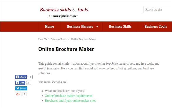 businee online brochure maker