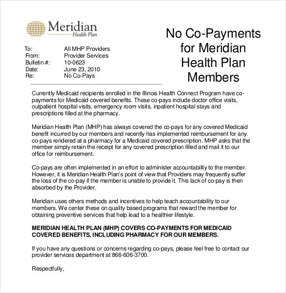 professional health plan memo template free example format