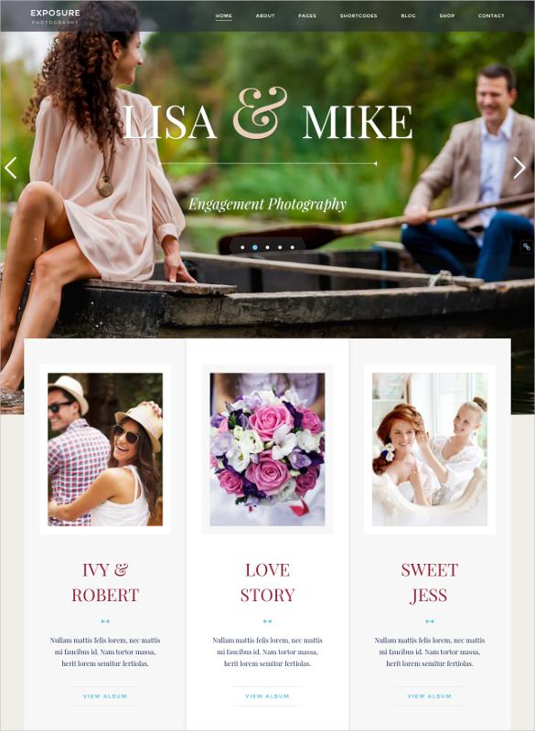 elegant respoinsive photo website template