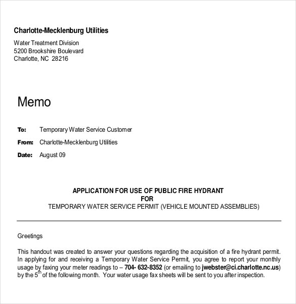 customer handout professional memo template pdf1