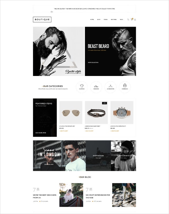 boutique fashion html website template
