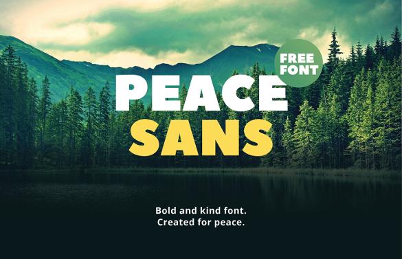 peace sans font free download