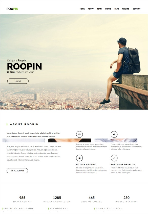 multipurpose scrolling muse website template