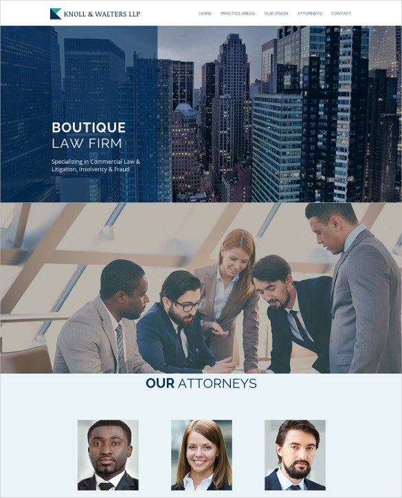 free boutique law firm wix template