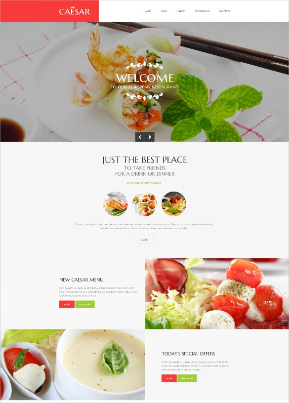 scrolling restaurant responsive website template