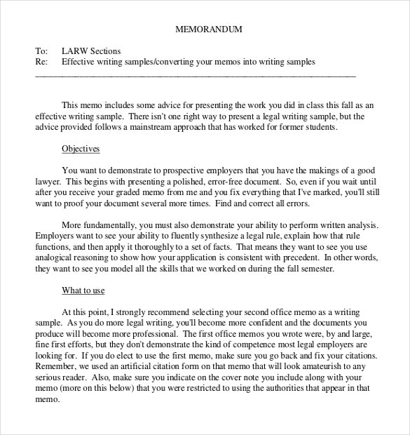 10 Legal Memo Templates Free Sample Example Format Download – Legal Memo