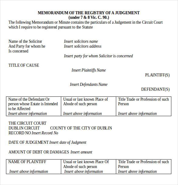 Legal Memo Templates  Free Sample Example Format Download