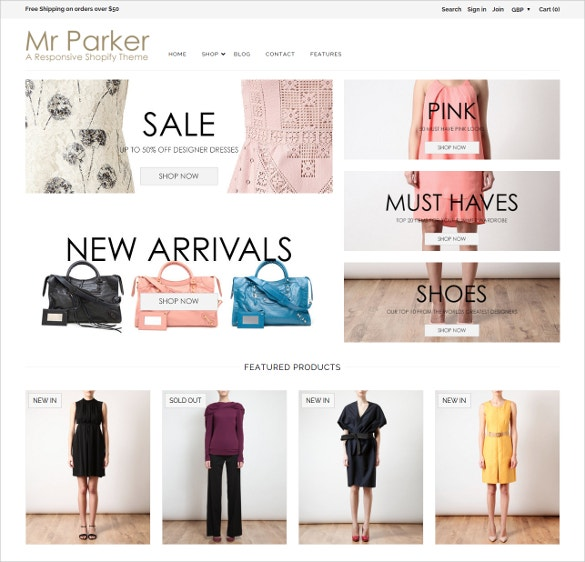 trendy fashion store website template
