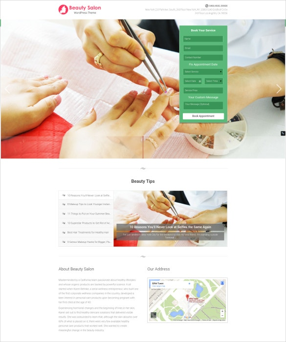 fashion beauty salon website template