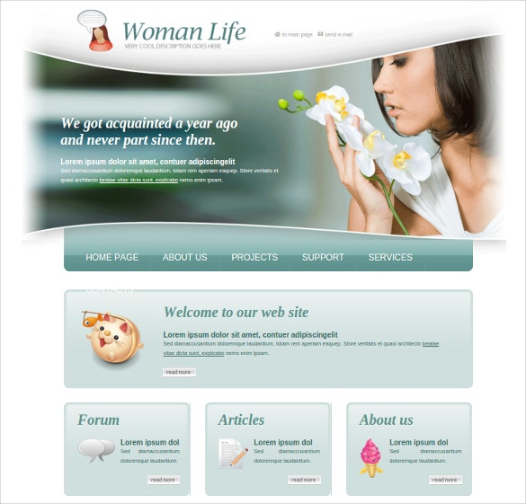 fashion woman html website template