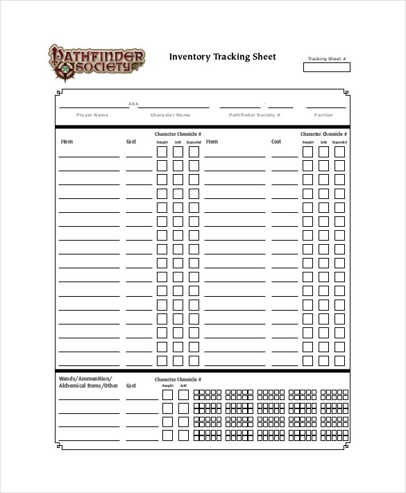 inventory tracking sheet pdf format download