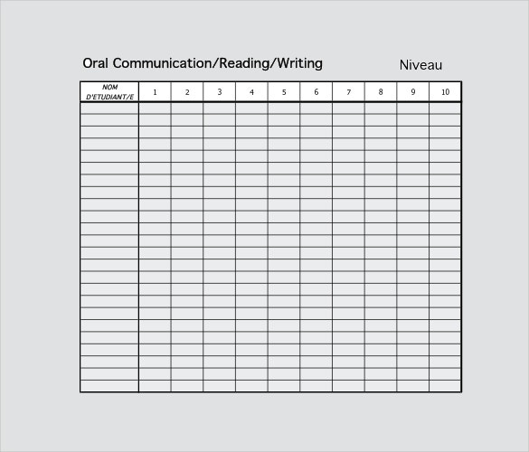 tracking sheet template sample download