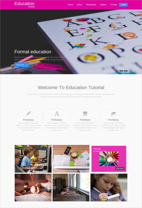 school education website template