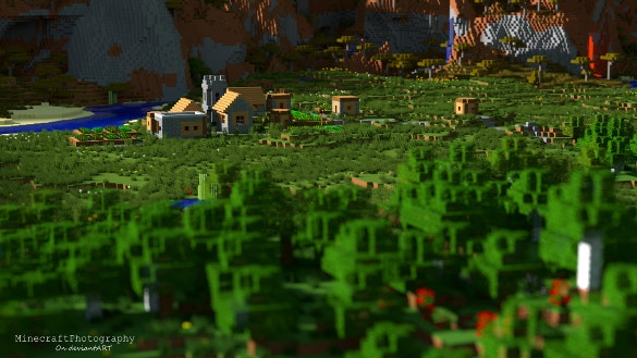 minecraft plains village background download