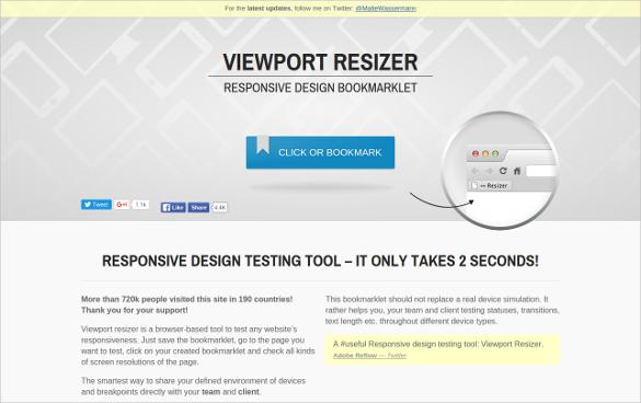 viewport resizer responsive testing tool