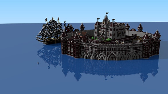 minecraft sea fort background download