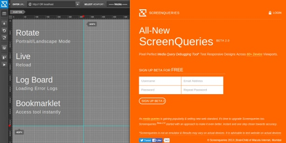 screenqueries pixel perfect media responsive tool
