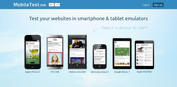 mobiletest test your websites in smartphone