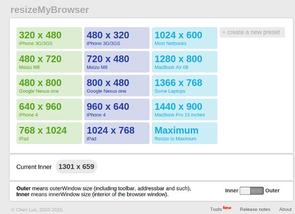resize my browser responsive testing tool