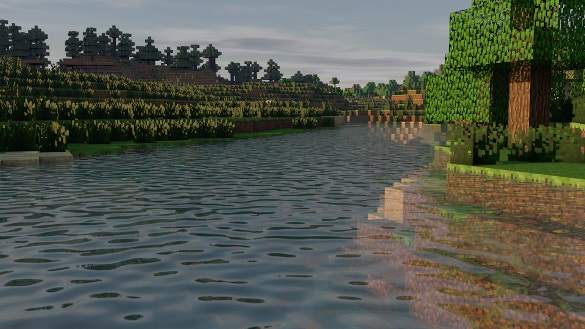 minecraft the river background download