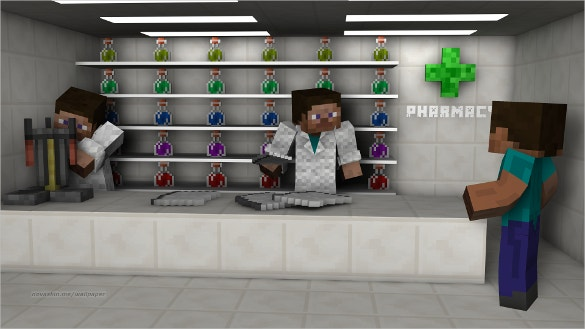 pharmacy minecraft background download