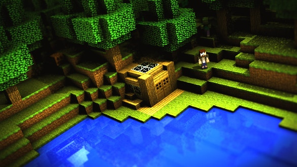 green minecraft background download