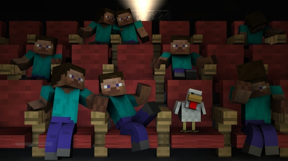 day at the theater minecraft background download