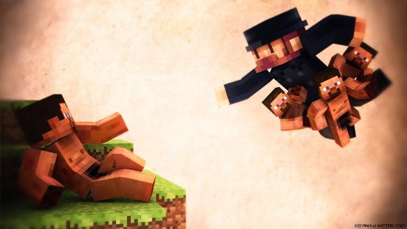 minecraft people background download