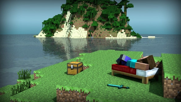 minecraft sea background download