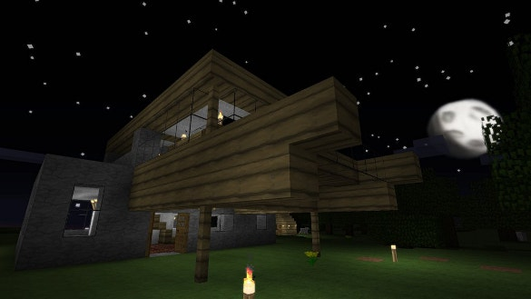 stone house minecraft background download