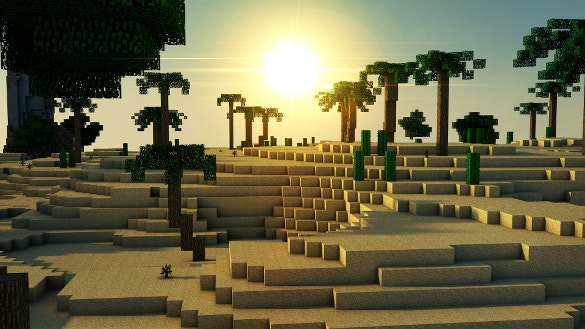 sunrise minecraft background download