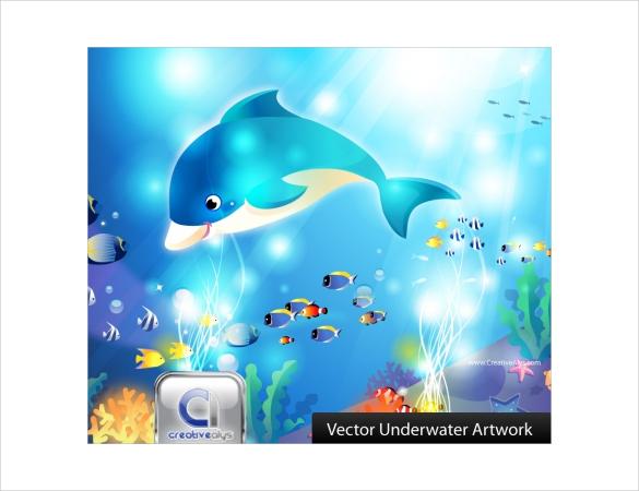 vector underwater artwork free download