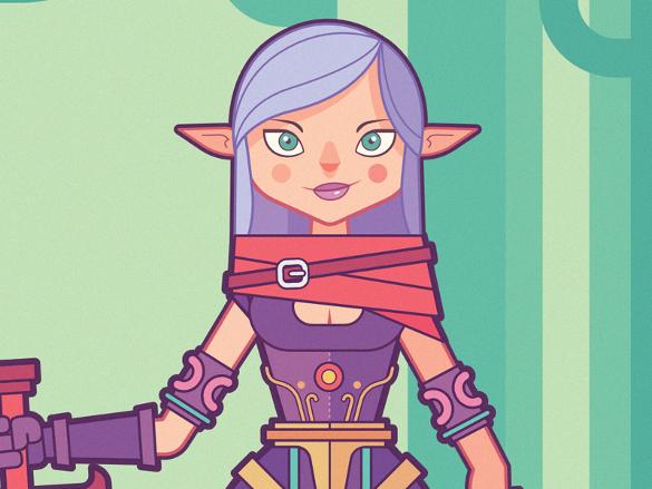 elf warrior vector artwork download
